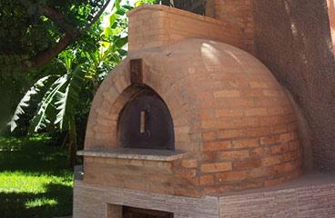 horno para pizza exterior